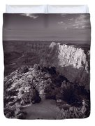Desert View At Grand Canyon Arizona Bw Duvet Cover