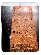 Desert View Tower, Starry Night, Grand Canyon Duvet Cover