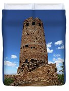 Desert View Watchtower At Grand Canyon Duvet Cover