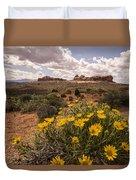 Desert Wildflowers In Spring Duvet Cover