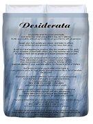 Desiderata - Blue Duvet Cover