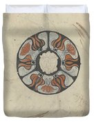 Design For A Memorial Plaque With W And A Coat Of Arms, Carel Adolph Lion Cachet, 1874 - 1945 Duvet Cover