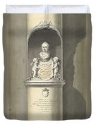 Design For A Monument To C. Brunings A Bust In A Niche, Bartholomeus Ziesenis, 1806 Duvet Cover