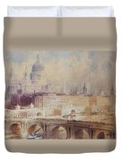 Design For The Thames Embankment, View Looking Downstream Duvet Cover