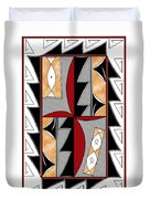 Southwest Collection - Design One In Red Duvet Cover