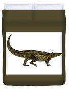 Desmatosuchus Profile Duvet Cover