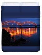 Desoto Bridge Refections Duvet Cover