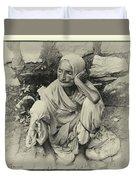 Destitute On The Ganges Duvet Cover