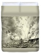 Destruction Of The Us Battleship Maine, 15th February, 1898 Duvet Cover