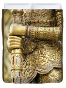 Detail From A Buddhist Temple In Bangkok Thailand Duvet Cover