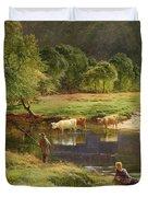 Detail Of A Highland Loch Scene Duvet Cover