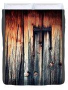 Detail Of An Old Wooden Door Duvet Cover