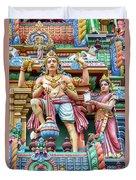 detail of Arulmigu Kapaleeswarar Temple, Chennai, Tamil Nadu Duvet Cover