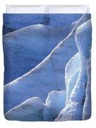 Detail Of Blue Ice On Exit Glaicer Duvet Cover