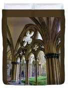 Detail Of Salisbury Cathedral Cloister  Duvet Cover