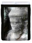 Detail Of Stone Carving Near Angkor Wat, Cambodia Duvet Cover