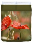 Detail Of The Corn Poppy Duvet Cover