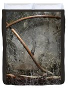 Detail Of Weathered Glass Lantern With Spider Webs And Mildew Duvet Cover