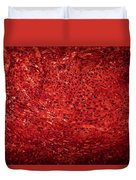 Detail Polished Red Coral Duvet Cover