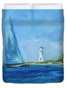 Sailing By The Light Duvet Cover