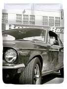 Detective Lieutenant Frank Bullitt, Steve Mcqueen, 1968 Ford Mustang Gt 390 Duvet Cover