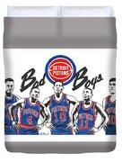 Detroit Bad Boys Pistons Duvet Cover