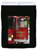 Detroit Fire Department Duvet Cover