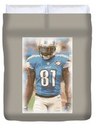 Detroit Lions Calvin Johnson 1 Duvet Cover