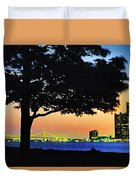 Detroit River View Duvet Cover