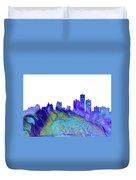 Detroit Skyline 3 Duvet Cover