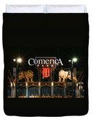 Detroit Tigers - Comerica Park Duvet Cover by Gordon Dean II