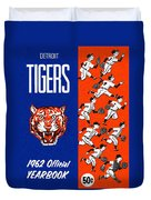 Detroit Tigers 1962 Yearbook Duvet Cover