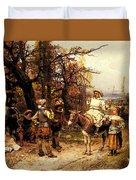 Detti Cesare Auguste A Halt Along The Way Duvet Cover