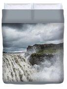Dettifoss Waterfall Duvet Cover