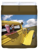 Deuce Coupe At The Drive-in Duvet Cover