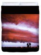 Developing Nebraska Night Shelf Cloud 009 Duvet Cover