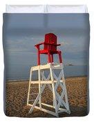 Devereux Beach Lifeguard Chair Marblehead Ma Duvet Cover