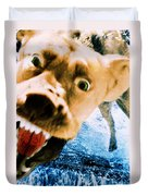 Devil Dog Underwater Duvet Cover