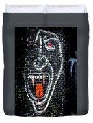 Devil Face Graffiti Duvet Cover