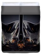 Devil Horn Focus Stack Duvet Cover