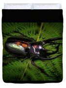 Devil Horned Rhino Beetle Duvet Cover