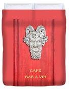 Devil Sculpture Duvet Cover