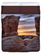 Devils Garden Sunset Duvet Cover