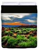 Devil's Garden Trail Duvet Cover