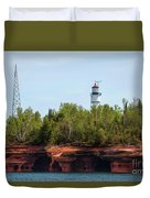 Devils Island Apostle Islands Lighthouse Duvet Cover
