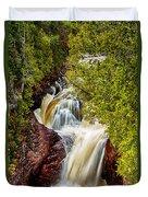 Devil's Kettle Falls Duvet Cover