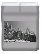 Devil's Postpile - Frozen Columns Of Lava Duvet Cover by Christine Till