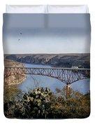 Devils River Hi Bridge Duvet Cover