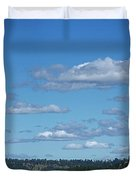 Devils Tower And The Missouri Hills Duvet Cover