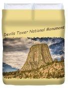 Devils Tower Inspiration 2 Duvet Cover
